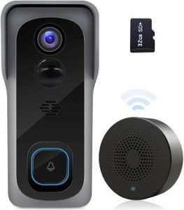 ZUMIMALL Smart Doorbell with Free SD Card Storage, No Subscription
